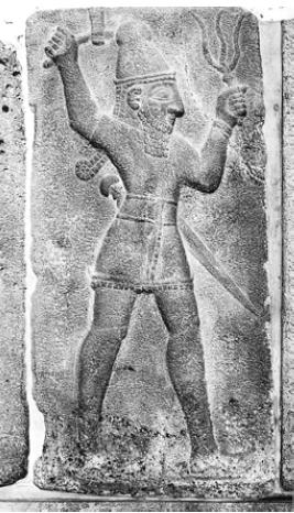 Сиро-хеттский бог грозы [Рельеф IX е. до н. э.]