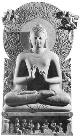Будда [Скульптура из Сарнатха. Середина I тысячелетия]