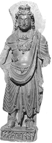 Бодхисатва Майтрея [Стиль Гандхары. III в.]