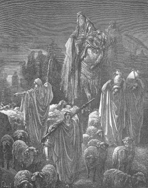 Г. Доре. Иаков переселяется в Египет