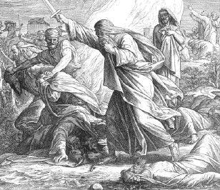 Ю. Шнорр фон Карольсфельд. Иудейские священники изгоняют слуг Ваала, бога финикийцев