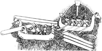 Финикийцы перевозят лес на кораблях