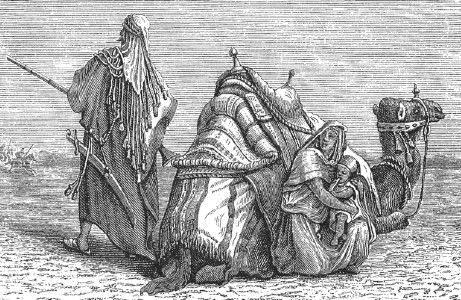 Путешествие бедуина. Гравюра XIX в.