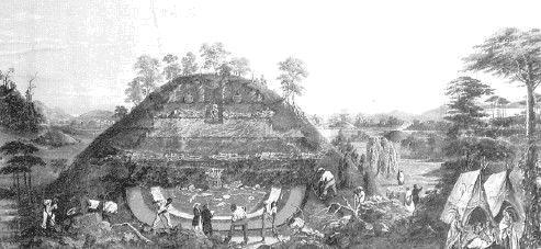 Северная Америка. Археологи-любители раскапывают курганы