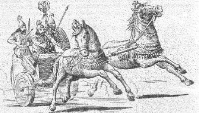 Боевая колесница ассирийцев